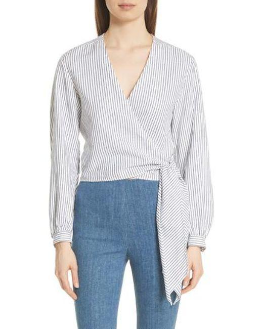 Cheap Discount Authentic Shopping Online High Quality Womens Prescot Striped Cotton-Linen Blouse Rag & Bone Best Place Free Shipping Enjoy Buy Cheap Explore zUnSDh