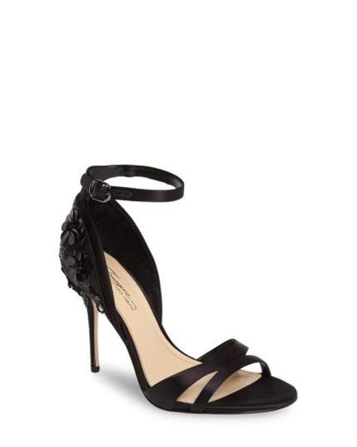 Imagine Vince Camuto | Black Ricia Flower Sandal | Lyst