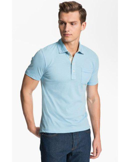 Billy Reid - Blue Pensacola Slim Fit Polo for Men - Lyst