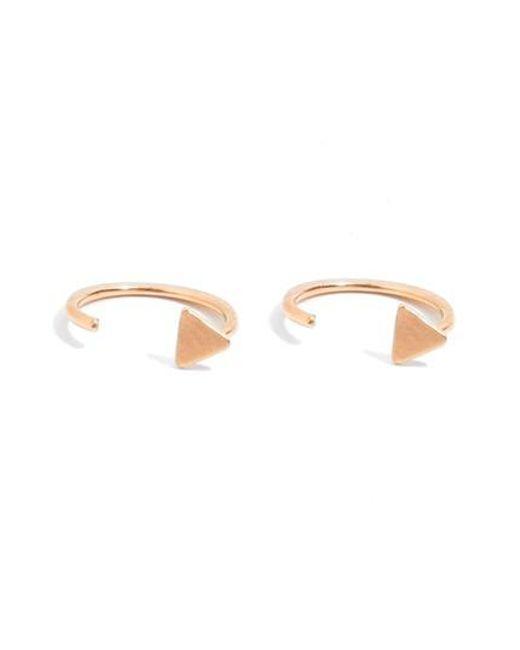 Melissa Joy Manning   Metallic Open Hoop Earrings   Lyst
