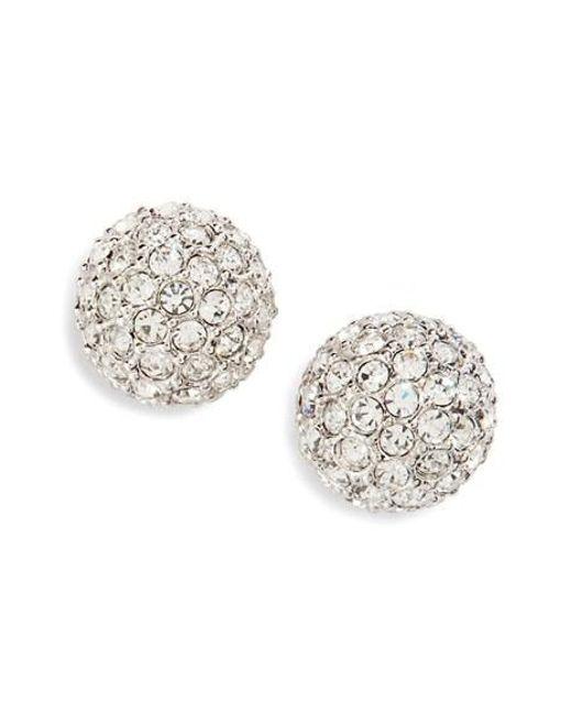 Nadri | Metallic Small Pave Stud Earrings | Lyst