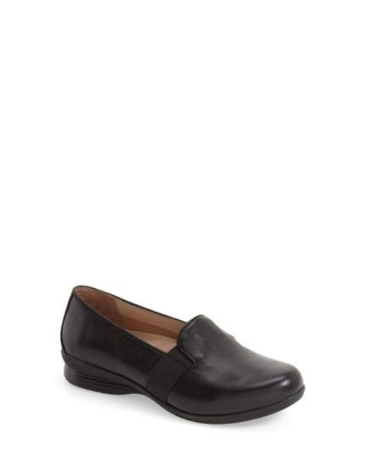 Dansko   Black Addy Leather Loafers   Lyst