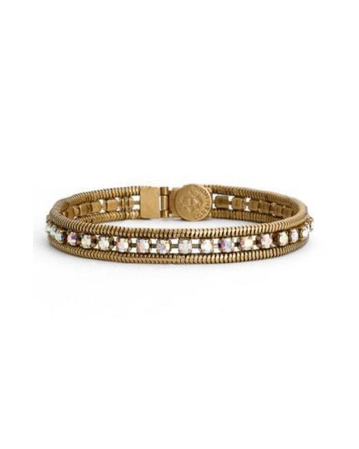Loren Hope | Metallic 'clara' Crystal Bracelet | Lyst