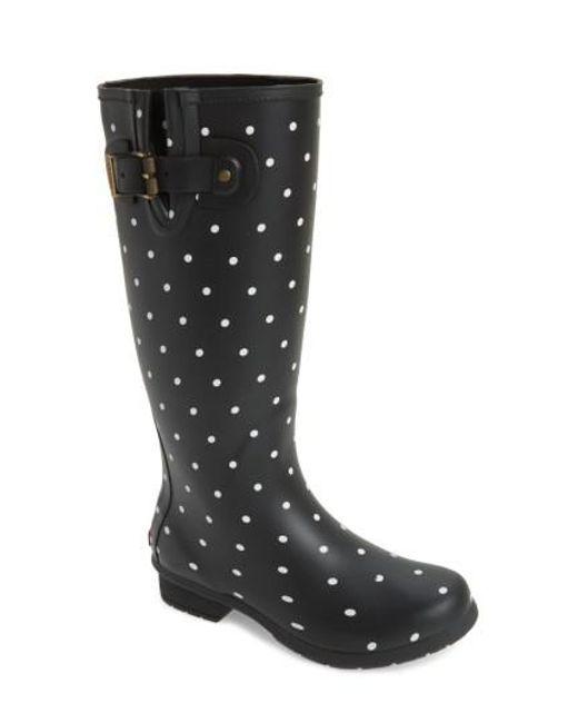 Chooka | Black Classic Dot Rain Boots | Lyst