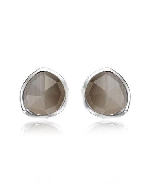 Monica Vinader - Green Siren Stud Earrings - Lyst