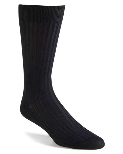 Pantherella | Blue Cotton Blend Mid Calf Dress Socks for Men | Lyst