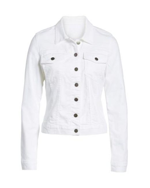 Kut From The Kloth | White 'helena' Denim Jacket | Lyst