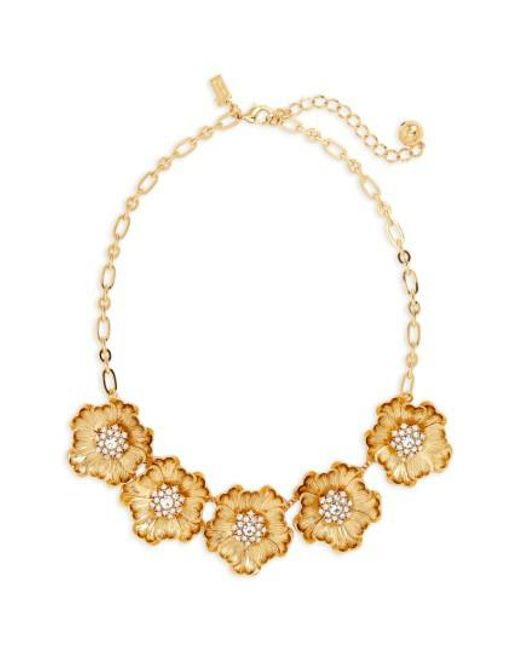 Kate Spade | Metallic Precious Poppies Frontal Necklace | Lyst