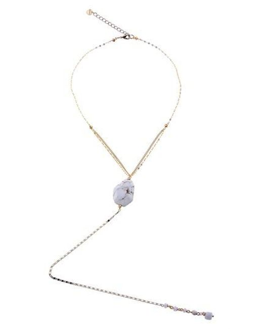 Nakamol - White Howlite Y-necklace - Lyst