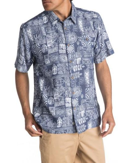 Quiksilver | Blue Waterman Collection Tikitaka Camp Shirt for Men | Lyst