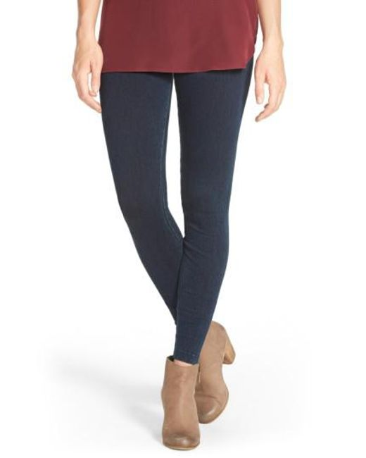 Lyssé | Blue High Waist Denim Leggings | Lyst