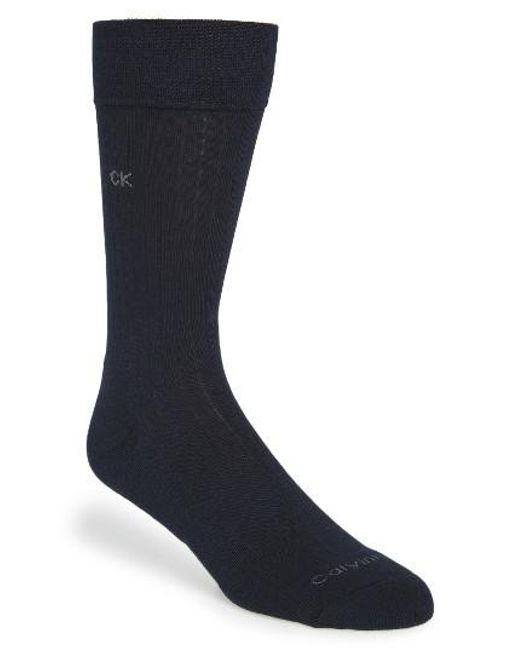 Calvin Klein | Blue 'ultra Fit' Socks for Men | Lyst