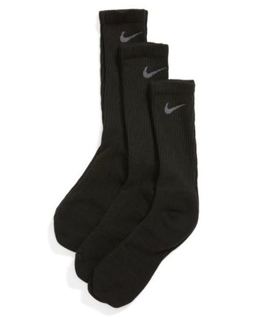 Nike | Dri-fit 3-pack Crew Socks, Black for Men | Lyst
