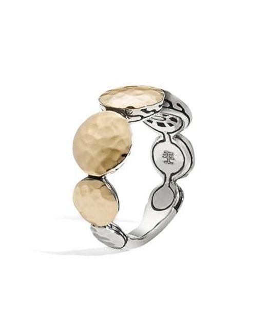 John Hardy - Metallic 'dot' Tapered Ring - Lyst