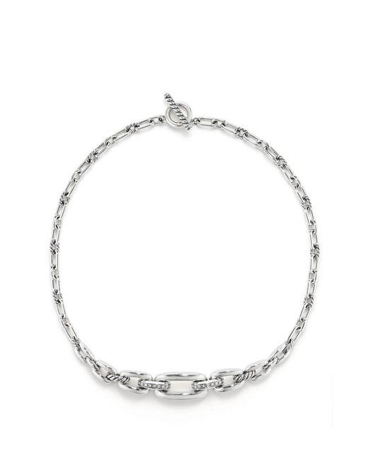 David Yurman - Metallic Wellesley Link Chaintm Station Necklace With Diamonds - Lyst