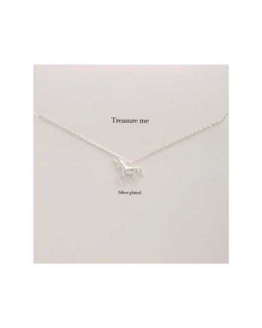 Estella Bartlett - Metallic Treasure Me Unicorn Necklace - Lyst