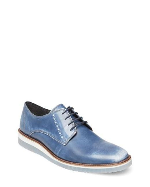 Steve Madden - Blue Intern Cap Toe Derby for Men - Lyst