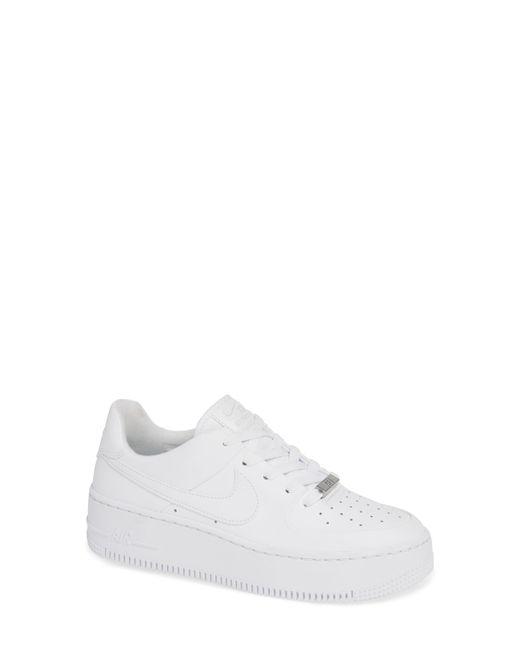 b820c1edfcc Nike - White Air Force 1 Sage Low Platform Sneaker - Lyst ...