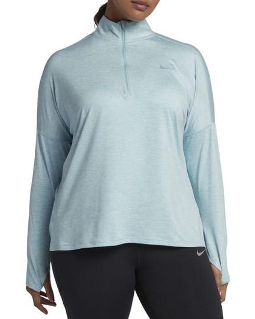 Nike - Blue Dry Element Half Zip Top - Lyst