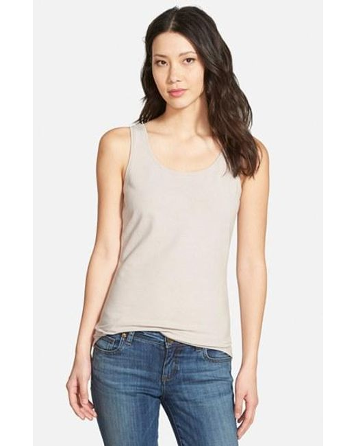NIC+ZOE | Metallic 'Perfect' Tank | Lyst
