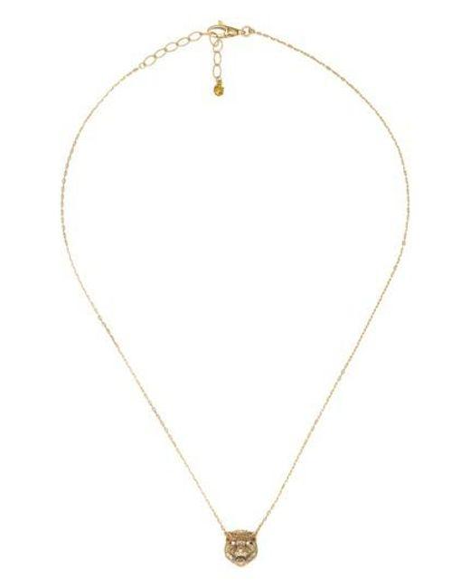 Gucci - Metallic Le Marche Feline Head Pendant Necklace - Lyst