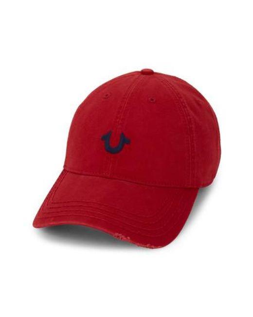 True Religion - Red Baseball Cap - for Men - Lyst