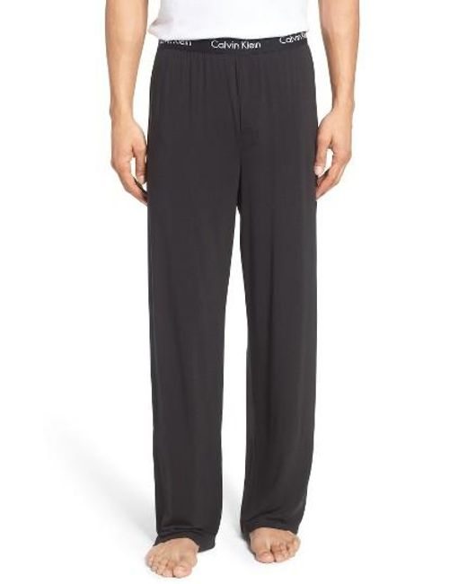 Calvin Klein   Black 'u1143' Micromodal Lounge Pants for Men   Lyst