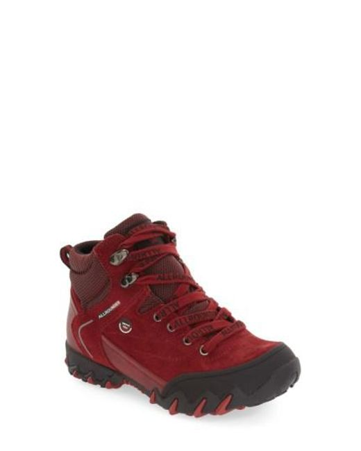 Allrounder By Mephisto | Red 'nigata-tex' Waterproof Sneaker | Lyst