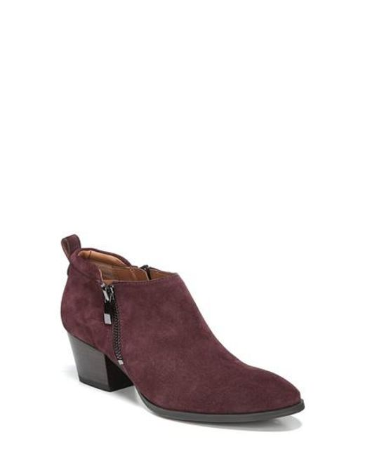 Sarto | Purple 'granite' Block Heel Bootie | Lyst
