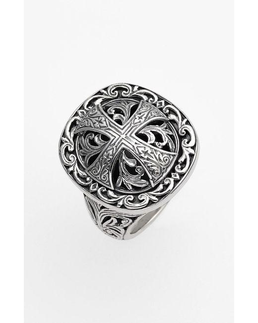 Konstantino - Metallic 'classics' Cross Dome Ring - Lyst