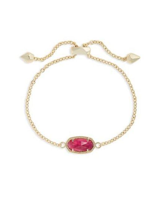 Kendra Scott | Metallic Elaina Birthstone Bracelet | Lyst