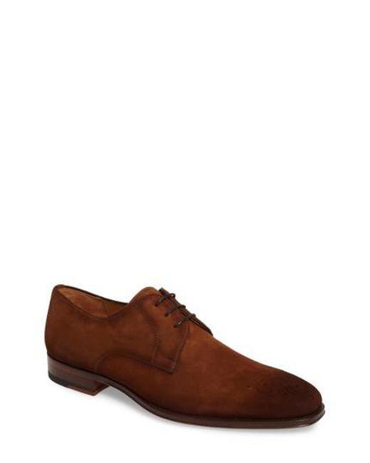 Magnanni Shoes - Brown Ezekiel Plain Toe Derby for Men - Lyst