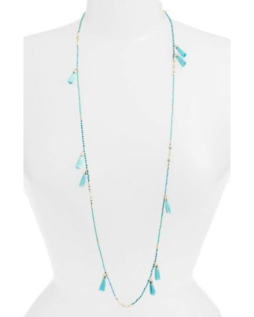 Kendra Scott - Multicolor Augusta Tassel Necklace - Lyst
