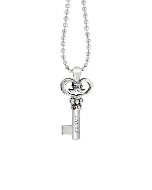 Lagos | Metallic Sterling Silver Key Long Strand Pendant Necklace | Lyst