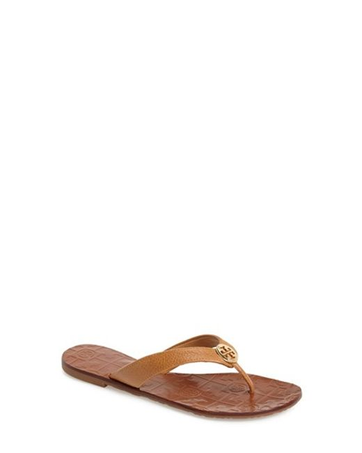 Tory Burch | Brown 'thora' Flip Flop | Lyst