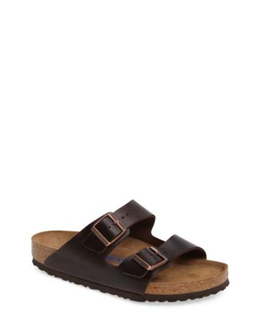 Birkenstock - Brown 'arizona Soft' Sandal for Men - Lyst