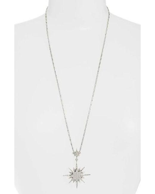 Vince Camuto - Metallic Crystal Starburst Pendant Necklace - Lyst