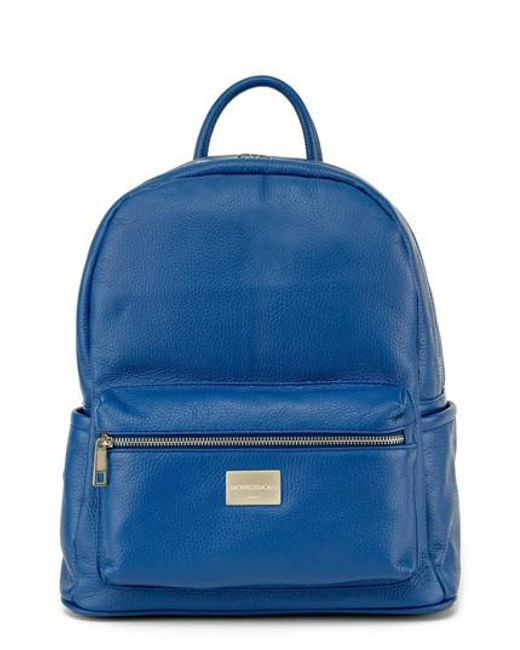 Montezemolo | Blue Leather Backpack | Lyst