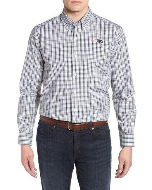 Sast Cheap Online Cutter & Buck New England Patriots - League Regular Fit Sport Shirt Latest Collections For Sale tpSDW9bzL
