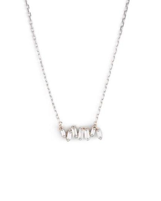 Suzanne Kalan   Metallic 'fireworks' Diamond Baguette Mini Bar Pendant Necklace   Lyst
