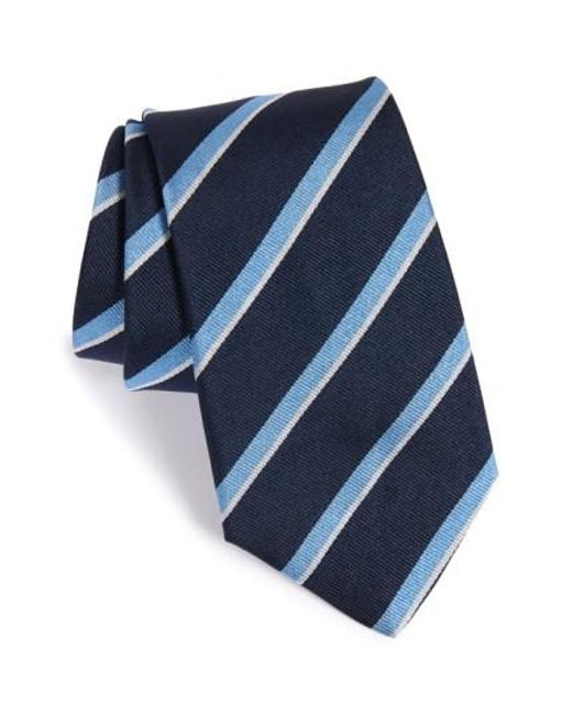 Gitman Brothers Vintage | Blue Stripe Silk Tie for Men | Lyst