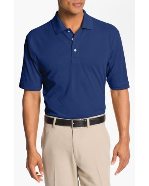 Cutter & Buck | Blue 'championship' Drytec Golf Polo for Men | Lyst