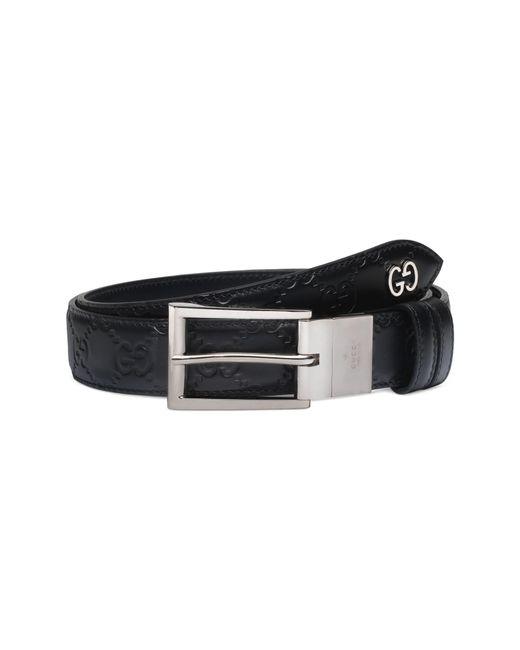 Gucci - Black Reversible Signature Leather Belt for Men - Lyst