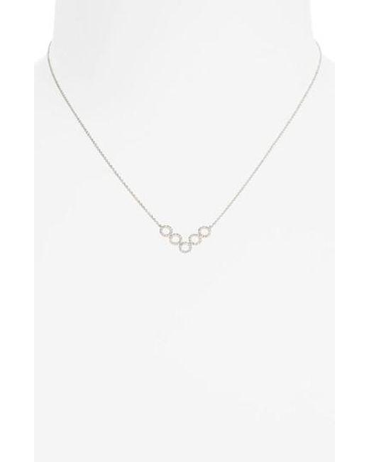 Bony Levy | Metallic Geometric Circle Pendant Necklace | Lyst