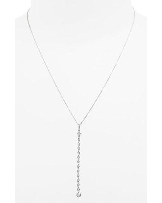 Bony Levy - Metallic Liora Diamond Y-necklace (nordstrom Exclusive) - Lyst