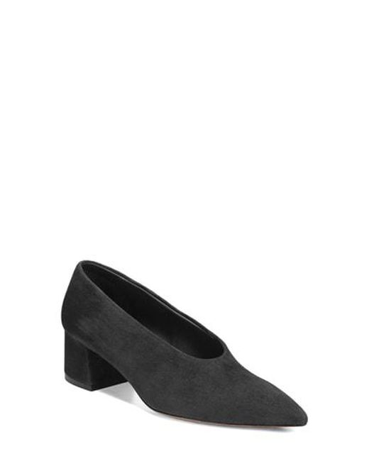 Vince - Black Rafe Flared Heel Pump - Lyst