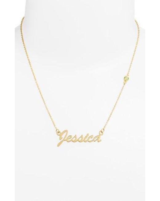 Argento Vivo - Metallic Birthstone & Personalized Nameplate Pendant Necklace (nordstrom Online Exclusive) - Lyst