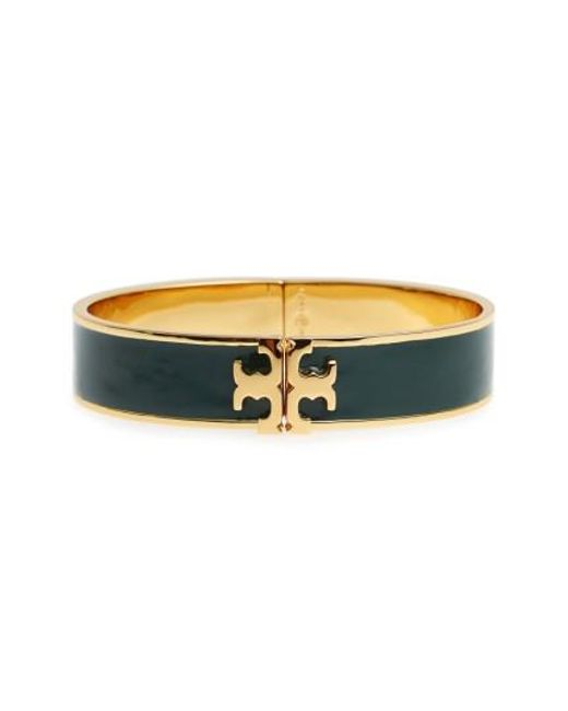 Tory Burch | Multicolor Raised Logo Enamel Hinge Bracelet | Lyst