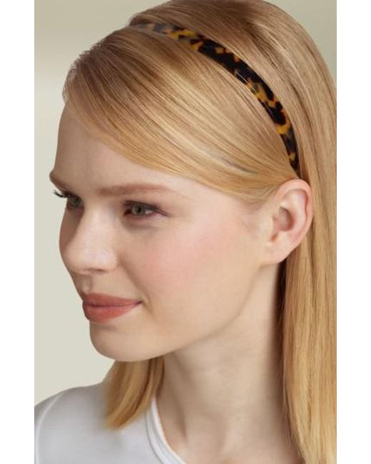 France Luxe | Brown Skinny Headband | Lyst