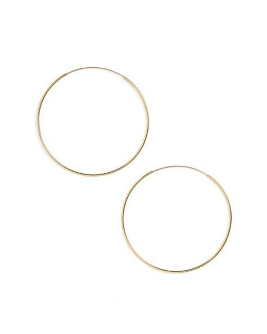 Argento Vivo   Metallic Endless Extra Large Hoop Earrings   Lyst